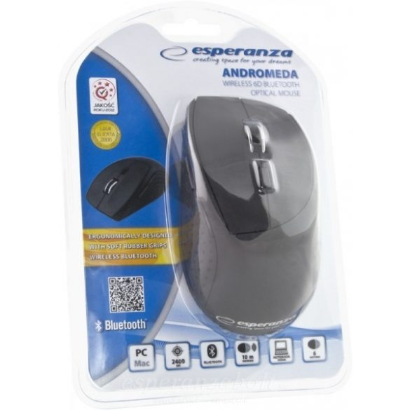 Esperanza Bluetooth Optikal Egér 6D Andromeda Black
