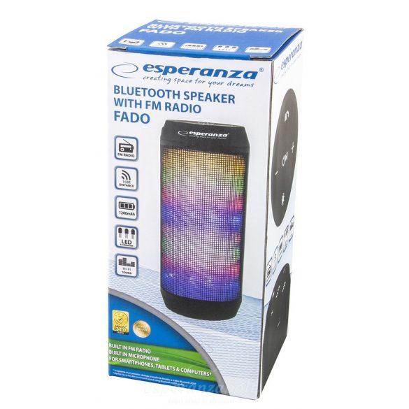 Bluetooth Hangszóró Led Világítással Esperanza Fado EP133K