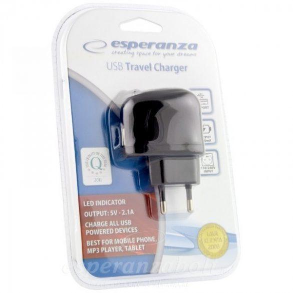 Esperanza Univerzális USB Töltő 2.1A EZ115