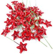 Drótos csillag piros 40db /csomag
