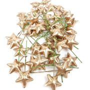 Drótos csillag arany 40db /csomag