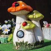 Prémium Kerti figura gombák napelemes LED világítással 38 cm DECOnline