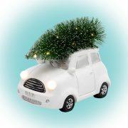 HOME LED-es kerámia autó figura fehér KDCA 15