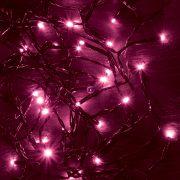 HOME LED-es beltéri fényfűzér, pink, 50 LED KII 50/P