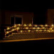 HOME LED-es sziporkázó fényfüzér 200 LED 20m IP44 melegfehér KKL 200F/WW
