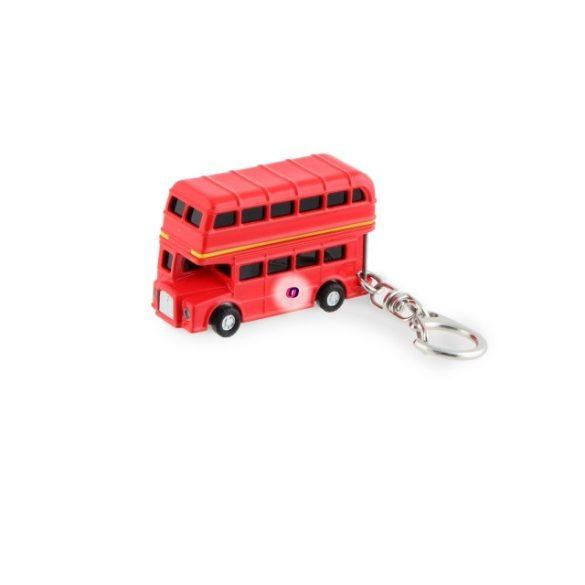 Kulcstartó hanggal, ledes, UK emeletes busz