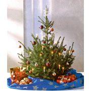 HOME Karácsonyfatakaró, karácsonyfa alátét kék KT 250/BL
