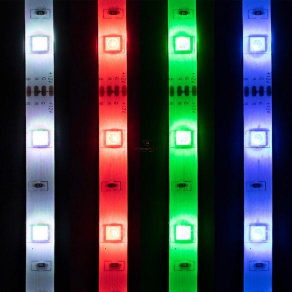 Home Zenére villogó LED szalag, 5m, RGB, szett, 150LED LS 5000SOUND