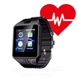 M8 Okosóra Pulzusmérővel SIM kártyás ezüst-fekete Vérnyomásmérővel