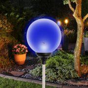 Home Napelemes üveggömb dekoráció színváltó LED világítással MX 625