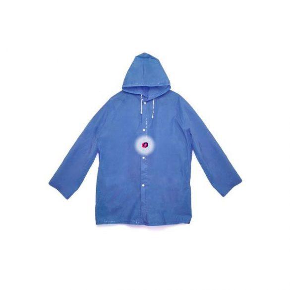 Esőkabát összecsomagolható, újrahasználható, kék