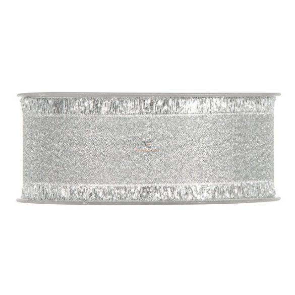 Szalag textil 40mmx15m ezüst szállal