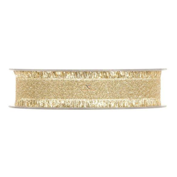 Szalag textil 25mmx15m arany szállal
