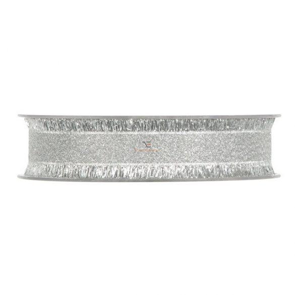 Szalag textil 25mmx15m ezüst szállal