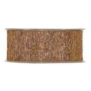 Szalag textil 40mmx15m bronz fényes dekorációs kiegészítő