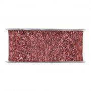 Szalag textil 40mmx15m piros fényes dekorációs kiegészítő