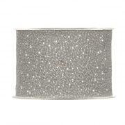Karácsonyi mintás Szalag szürke glitteres pöttyös 63mmx20m
