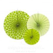 Körlegyező papír 23,32,40cm alma zöld 3db/szett