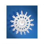 Dekoráció rozetta 45cm fehér karácsonyi asztali kellék