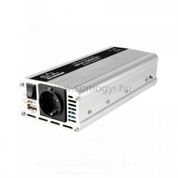 Feszültségátalakító, Inverter 12V 1000/2000W, +USB aljzat
