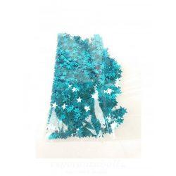 Csillag konfetti - türkisz