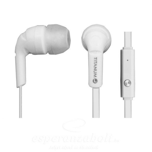 Titanum Stereo Fejhallgató Mikrofonnal Th109W White