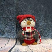 Karácsonyi Pingvin figura plüss/textil 33cm 2 féle