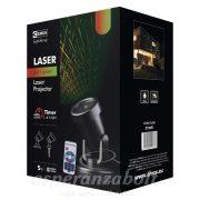 Lézer projektor Mintás Távirányítóval IP44 PIROS/ZÖLD