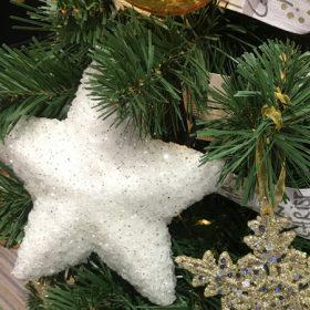Fehér karácsonyfadísz