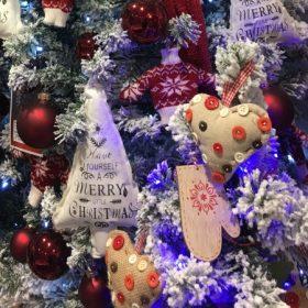 Karácsonyfadísz textil