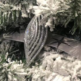 Ezüst karácsonyfadísz