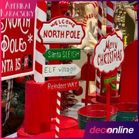 Amerikai karácsonyi dekoráció