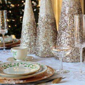 Pezsgő karácsonyi dekoráció