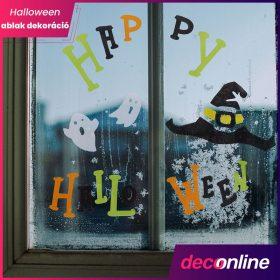 Halloween ablak dekoráció