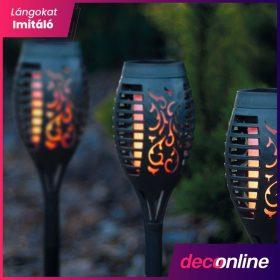 Lángokat imitáló szolár lámpa
