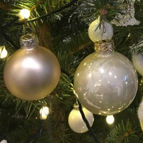 Pezsgő színű karácsonyfadísz