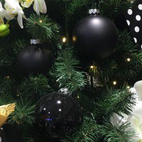 Fekete karácsonyfadísz