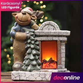 Világító karácsonyi figura és dísz