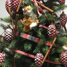 Toboz alakú karácsonyfadísz