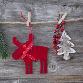 Skandináv karácsonyi dekoráció