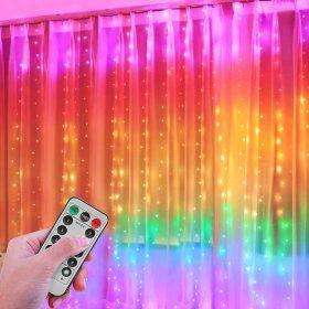 Karácsonyi fényfüggöny, fényháló