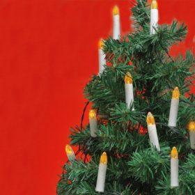 Gyertya formájú karácsonyfa fényfüzér