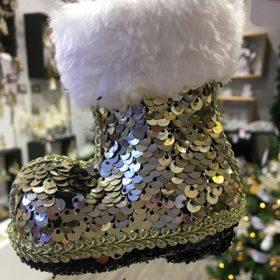 Flitteres karácsonyfadísz