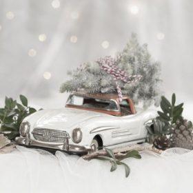 Vintage karácsonyi dekoráció