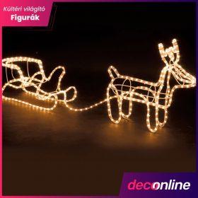 Karácsonyi világító kültéri figurák
