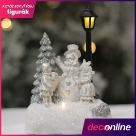Karácsonyi falu figura