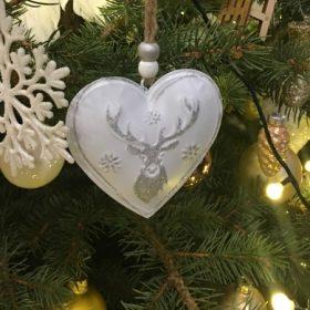 Karácsonyfadísz fém