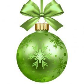 Zöld karácsonyi dekoráció