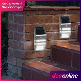 Falra szerelhető napelemes lámpa
