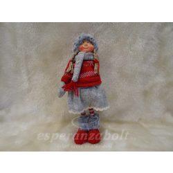 Álló karácsonyi eszkimó lány szoknyában 30cm